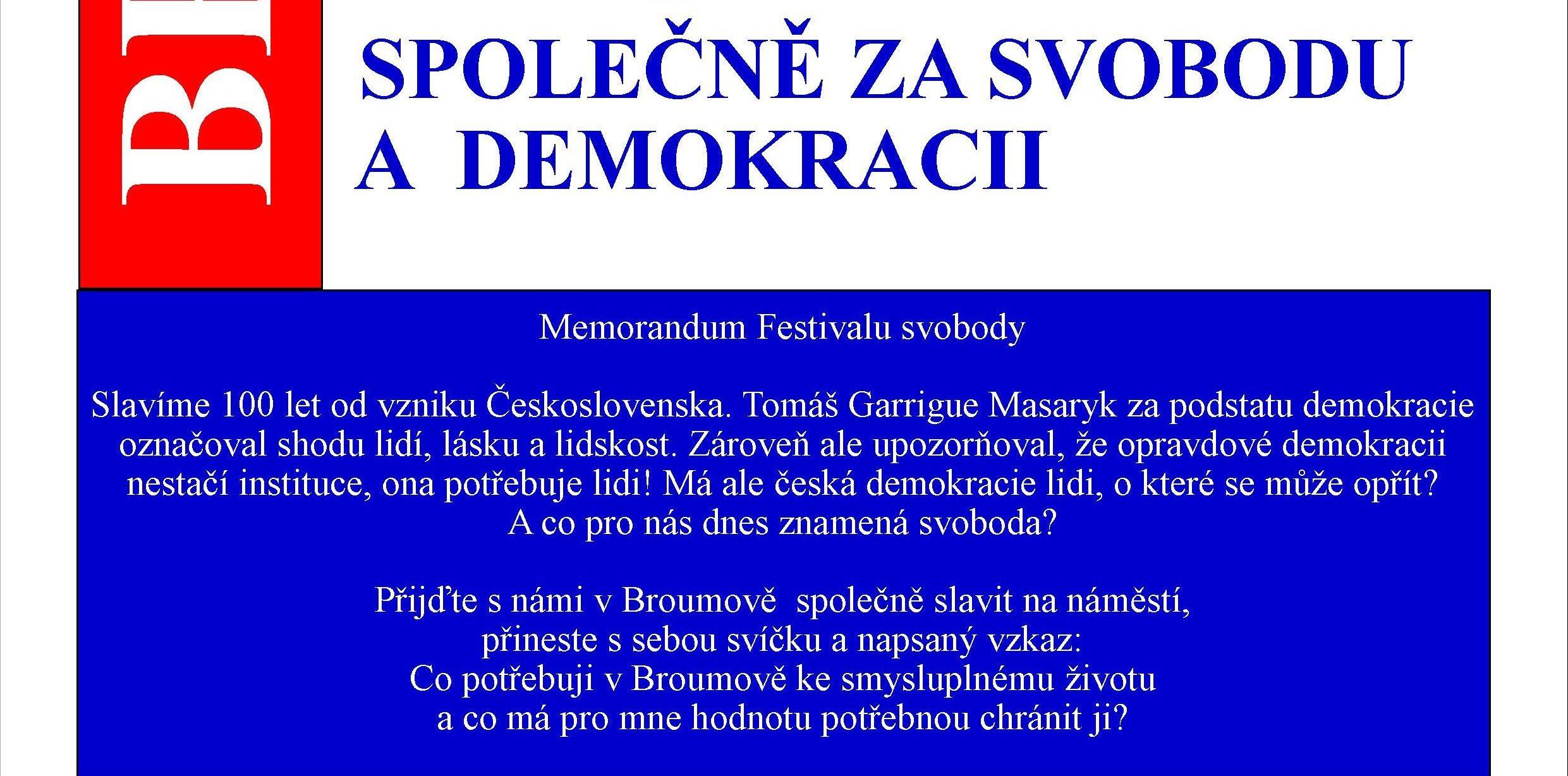 Společně za svobodu a demokracii
