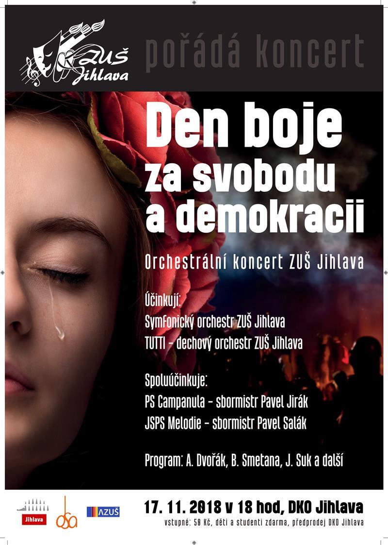 Orchestrální koncert - Den boje za svobodu a demokracii