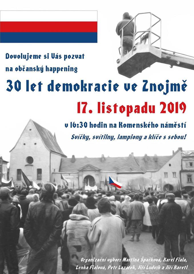 30 let demokracie ve Znojmě